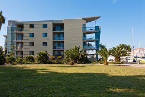 Residential block of apartments garden